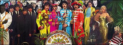 Detalle de carátula de Sr. Pepper de los Beatles