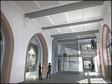 An artist's impression of the gallery's revamped East Hall