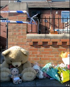 Tributes at the scene of the fire