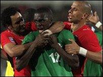 لاعبو مصر وزامبيا