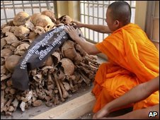A Buddhist monk in Udonmg, file image
