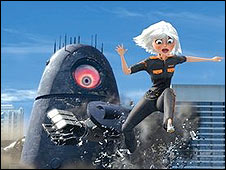 A scene from Monsters vs. Aliens