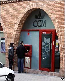Caja Castilla-La Mancha bank branch in Madrid