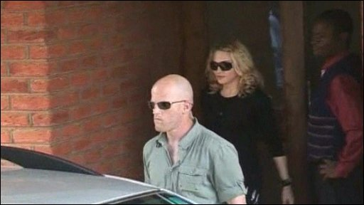 Madonna leaving court