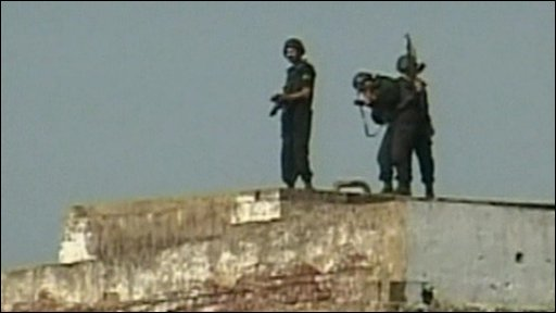 Troops on roof
