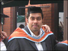 Surjith from Cardiff at his graduation ceremomy