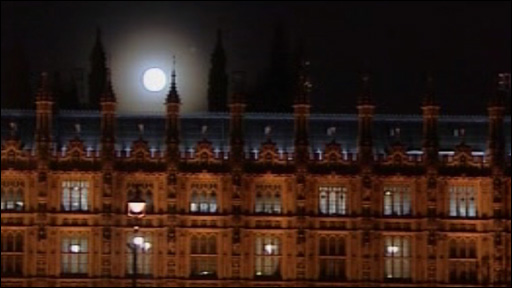 Parliament by moonlight