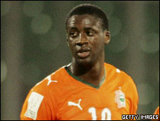 Barcelona and Ivory Coast's Yaya Toure