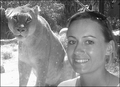 Laura Marsh at the zoo