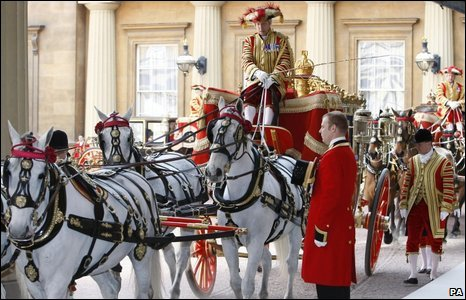 Royal carriages used in state visit