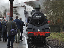 Steam train - picture courtesy of East Lancashire Railway