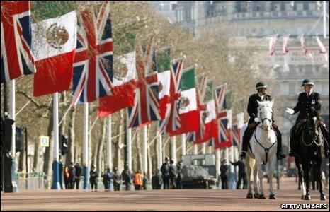 Mexican President Felipe Calderon's state visit