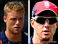 Andrew Flintoff (left) and Kevin Pietersen
