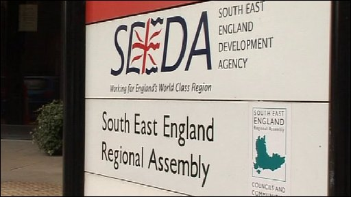 South East England Development Agency sign