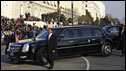 "President Obama's customised limousine, nicknamed ""The Beast"""