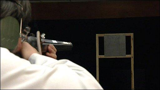 Man firing musket