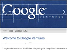 Screen grab of Google Ventures website