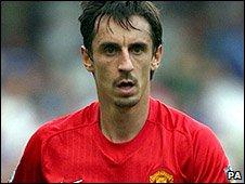 Manchester United defender Gary Neville