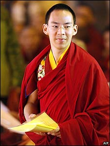 China's Panchen Lama at the World Buddhist Forum in March 2009