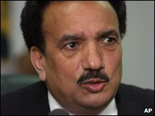 Rehman Malik, head of the Pakistan Interior Ministry