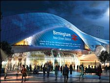 Artist impression of Birmingham New Street station