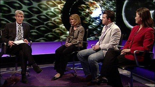 Jeremy Paxman, Ruth Kelly, Liam Halligan and Dr Linda Yueh