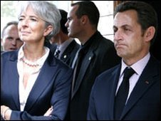 President Nicolas Sarkozy and Finance Minister Christine Lagarde