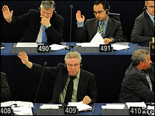 MEPs voting in Strasbourg (file pic)