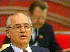 Soviet leader, Mikhail Gorbachev