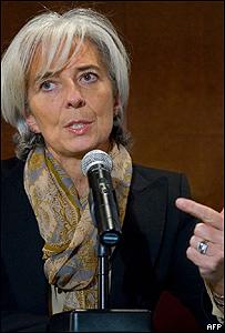 Christine Lagarde, ministra francesa de Econom�a