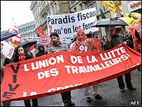 Manifestaci�n del 28 de marzo en Par�s