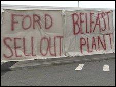 Visteon plant in Belfast