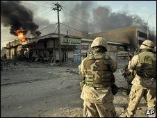 US marines in Falluja, November 2004