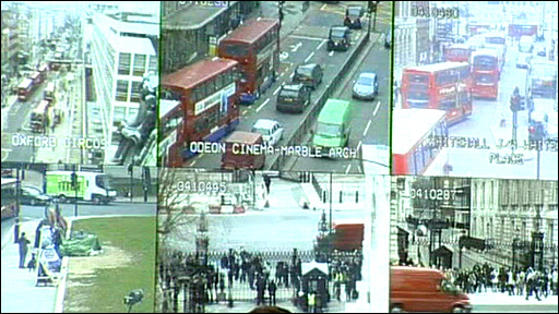 CCTV images of London