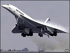File photo of Air France Concorde flight taking off