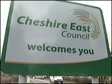 Cheshire East sign