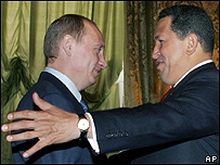 Vladimir Putin (izq.) y Hugo Ch�vez