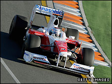Jarno Trulli in his Toyota during the Australian Grand Prix