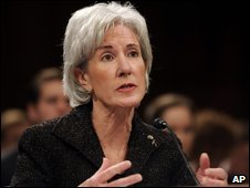 Kathleen Sebelius testifies at Senate, 31 March 2009