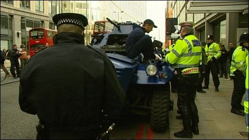 Police seize armoured car