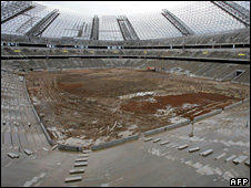 New football stadium in Donetsk (April 2008)