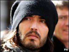 Russell Brand at G20 protest on 1 April 2009