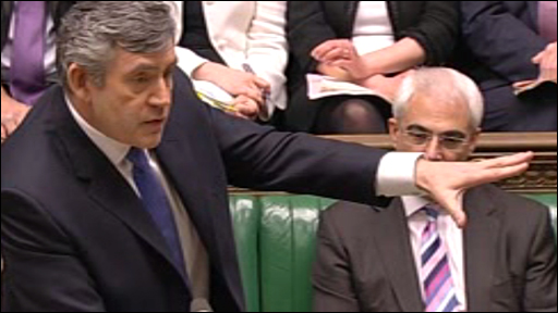 Gordon Brown at the despatch box