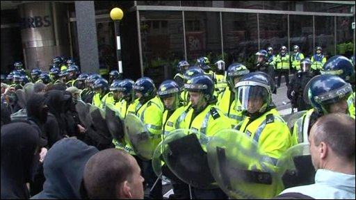 Police atthe RBS HQ