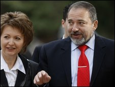 Avigdor Lieberman with his wife