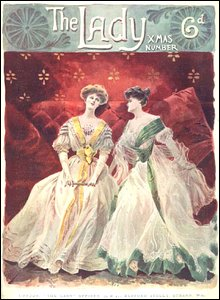 Christmas front cover of The Lady (vintage)