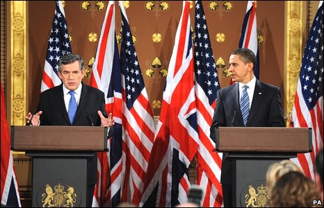 Gordon Brown and Barack Obama give joint press conference