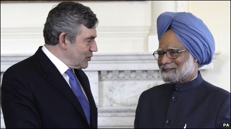 Gordon Brown and Manmohan Singh