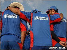 The Afghan cricket team