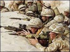 Soldiers in Saudi desert